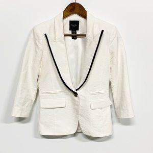 Smythe | White Single Button Swiss Dot Blazer 6